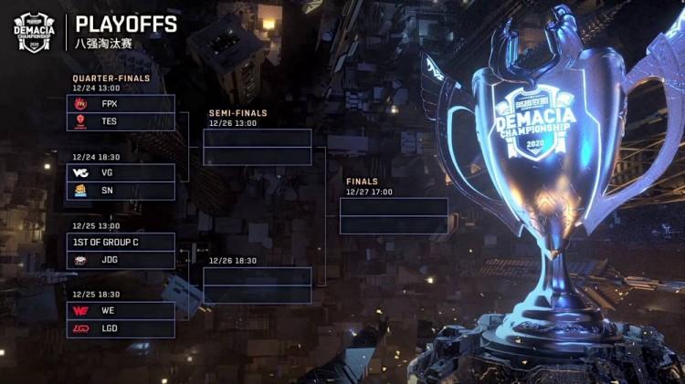 2020德玛西亚杯淘汰赛什么时候开始 2020德玛西亚杯八强赛程安排