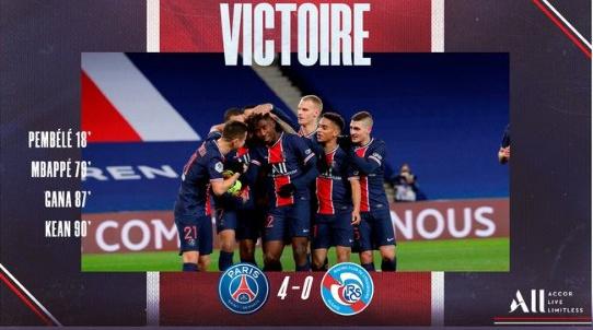巴黎4-0斯特拉斯堡 姆巴佩破门盖耶世界波