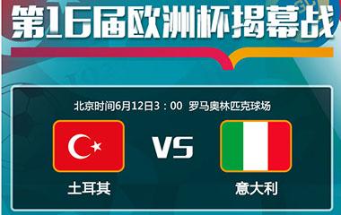 第16届欧洲杯揭幕战 土耳其vs意大利直播哪里看